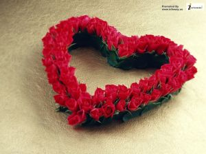 beautiful heart with roses