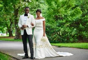 One of Osas's FOUR white wedding dresses
