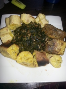 I eat it with plantain sometimes