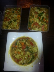 This cabbage soup, 4servings, cost me under 1k... haba