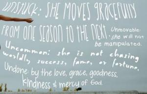 Unstuck!!! Easily my fave PropelWomen quote